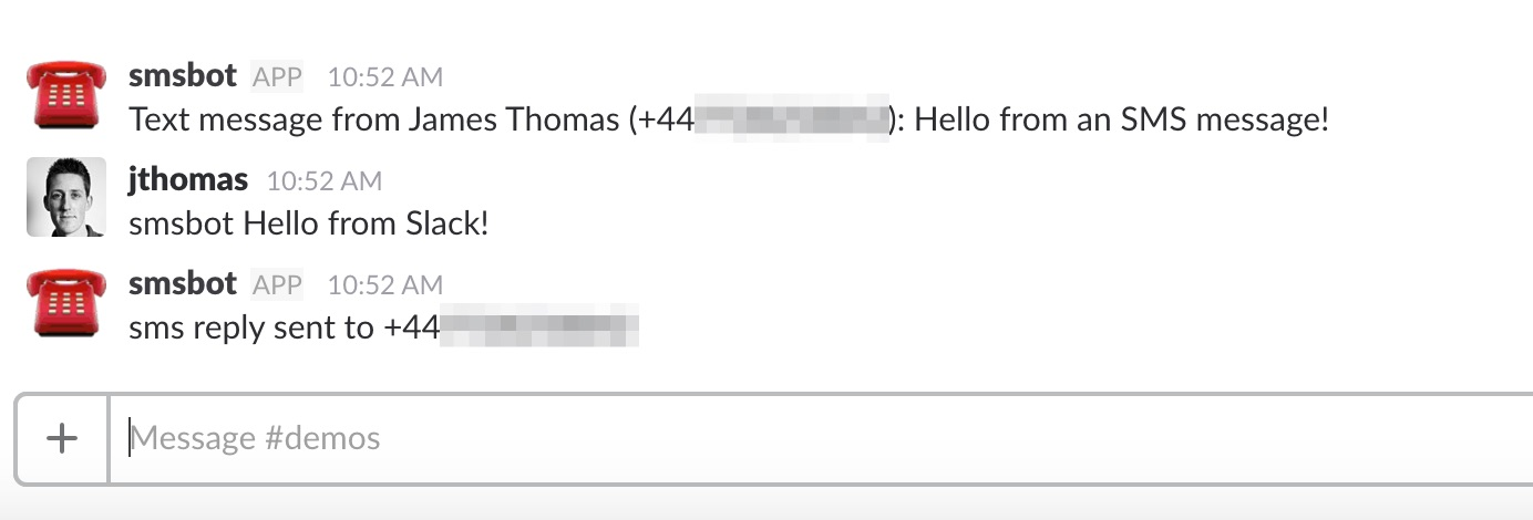 Building an SMS Bot for Slack  - James Thomas